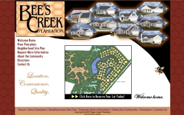 Bees Creek Plantation web site