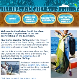 Charleston Charter Fishing web site