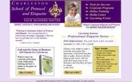 Charleston School of Etiquette web site
