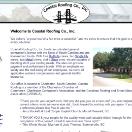 Coastal Roofing Co web site