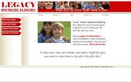 Legacy Homebuilders web site