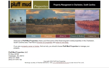 Pluff Mud Properties web site