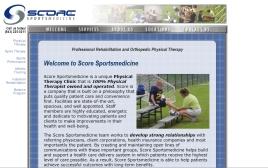Score Sports web site