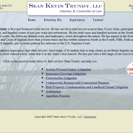 Sean Kevin Trundy web site