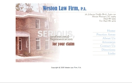 Weston Law Firm web site